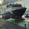 Disney Wonder on the Waterfront 20 x 30 oil