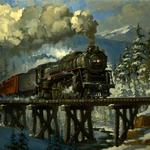 WINTER MOUNTAIN STEAM